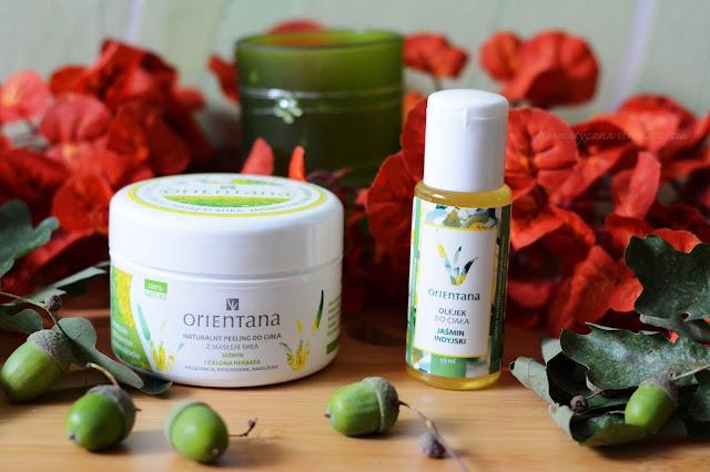 Orientana naturalny peeling do ciała jaśmin i zielona herbata, olejek do ciała jaśmin