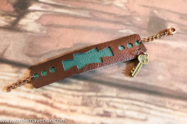 Handmade leather cuff bracelet