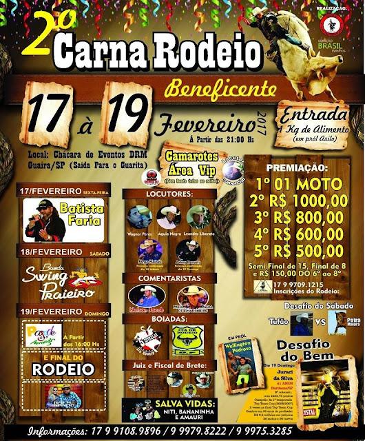 2º CarnaRodeio Guaíra SP 2017