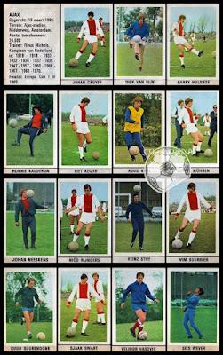 Ajax Voetbalsterren Holland 1970/71