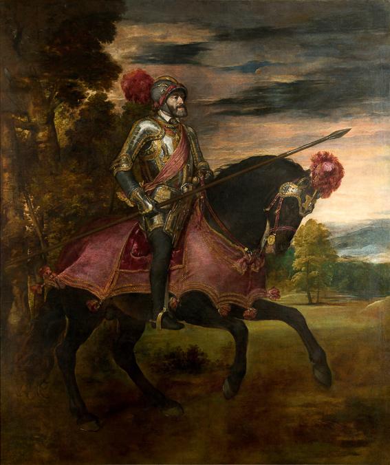 Carlos V Tiziano Museo Prado