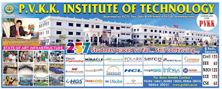P V K K INSTITUTE OF TECHNOLOGY ANANTAPUR