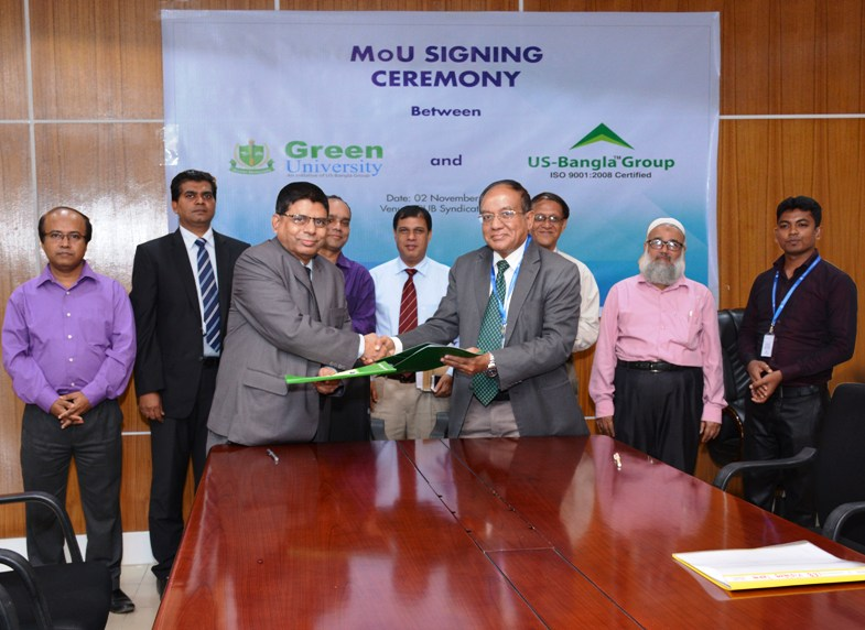 Green University Signed MoU  with US-Bangla Group