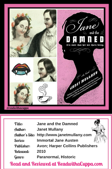 Read the book review for Jane and the Damned by Janet Mullany at https://www.readwithacuppa.com/2018/07/book-review-jane-and-damned-janet.html