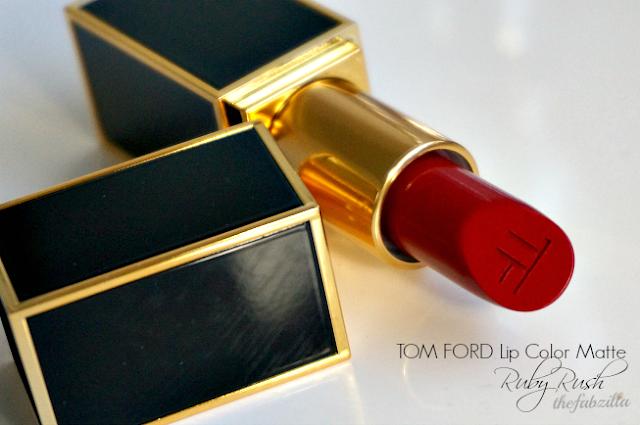 son môi, son đỏ, son lì, som tom ford, tom ford, tom ford ruby rush, review tom ford