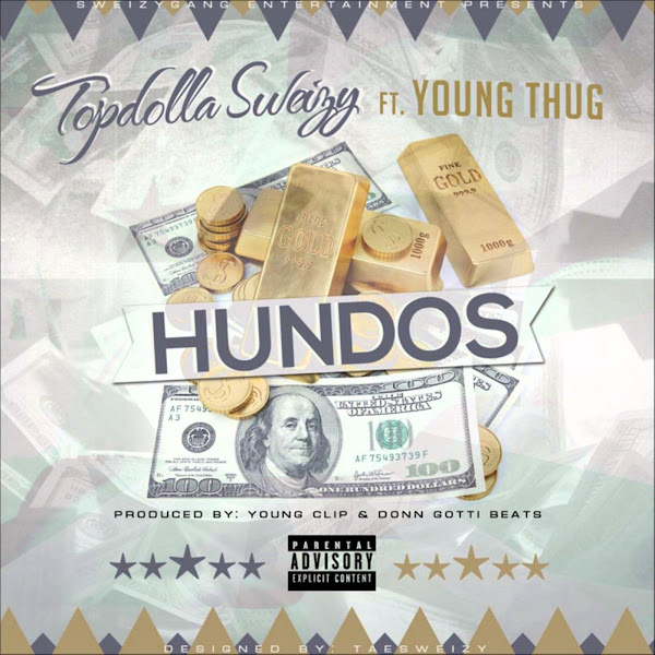Topdolla Sweizy - Hundos (feat. Young Thug) - Single  Cover