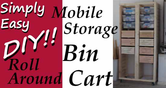 DIY Storage Bin Cart