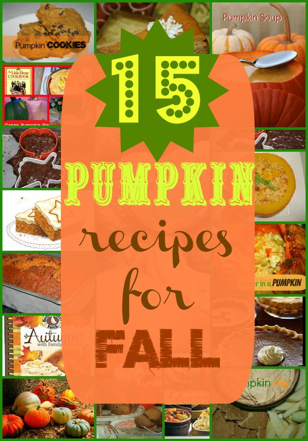 SusieQTpies Cafe: 15 Pumpkin Food Recipes For Fall And