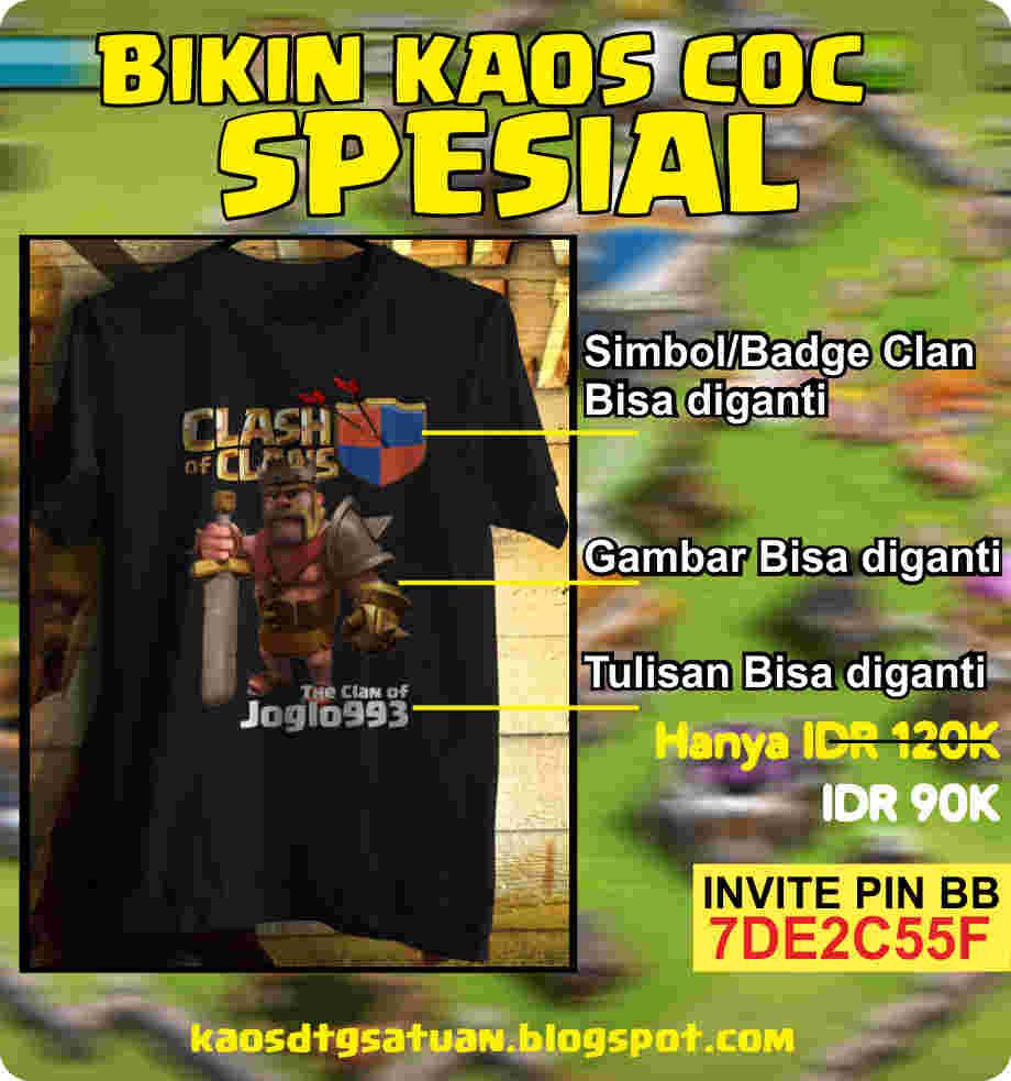 Kaos COC Online Buat Sesukamu Gambarnya KDTG 1AN