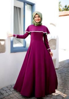 Model baju gamis muslim modern terbaru