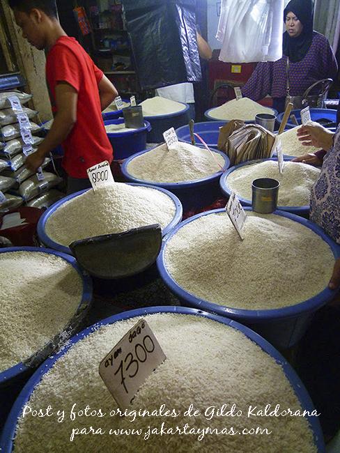 Venta de arroz en Yakarta