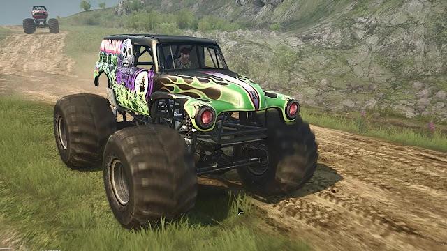 Mod Grave Digger Monster truck Spintires Mudrunner