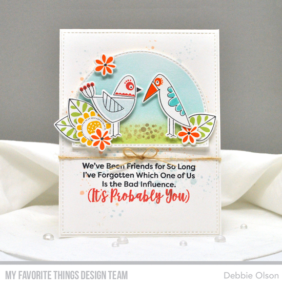 Handmade card by Debbie Olson featuring products from My Favorite Things #mftstamps
