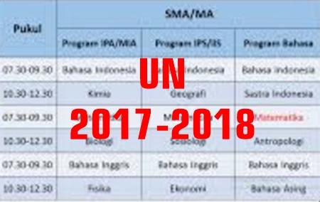 Hasil gambar untuk jadwal un 2017