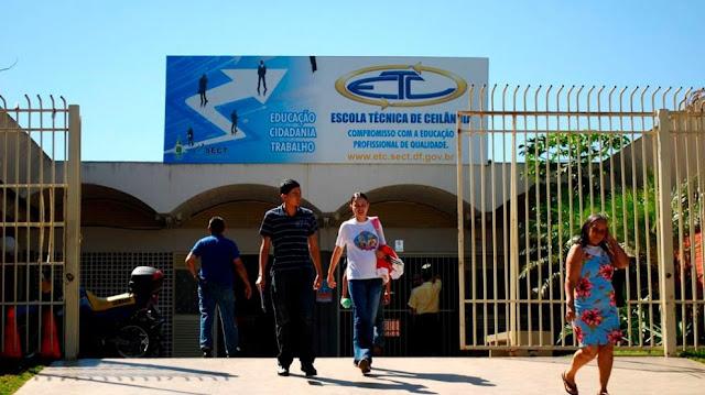 Escola Técnica de Ceilândia abrirá inscrições para 13 cursos em 2019