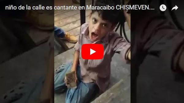 Un niño de la calle de Maracaibo canta como un ángel y pasa hambre