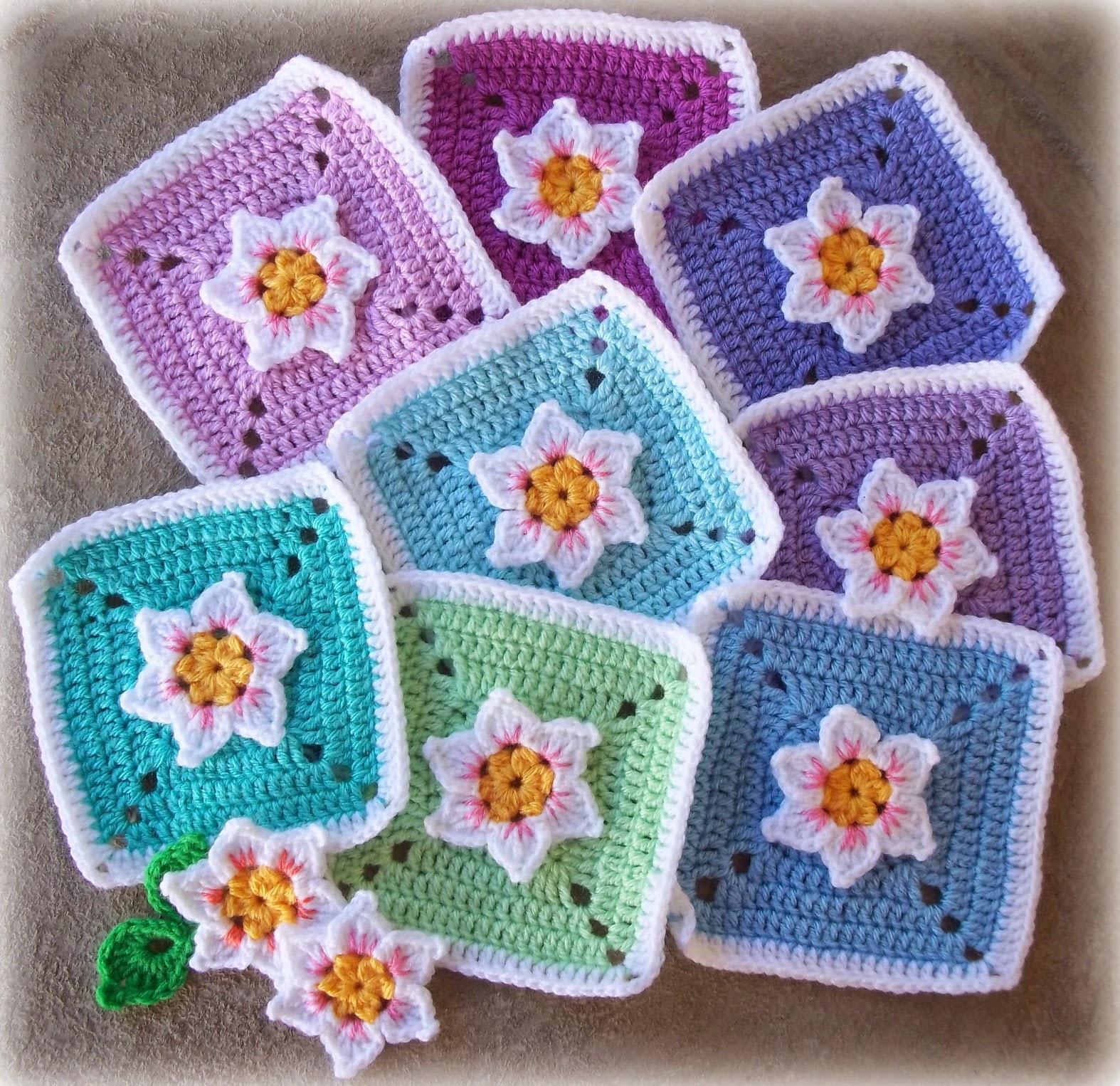 flower crochet squares