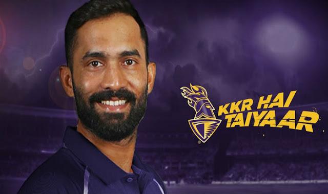 Dinesh Karthik appointed Kolkata Knight Riders captain for IPL 2018