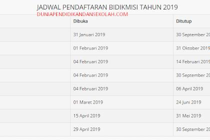 PENDAFTARAN DAN JADWAL BIDIK MISI 2019