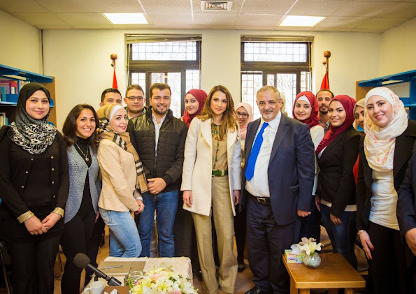 Queen Rania of Jordan launched the Hashemite University's nursery, and toured several other facilities on campus in Zarqa that reflect the university's commitment to social progress and innovation