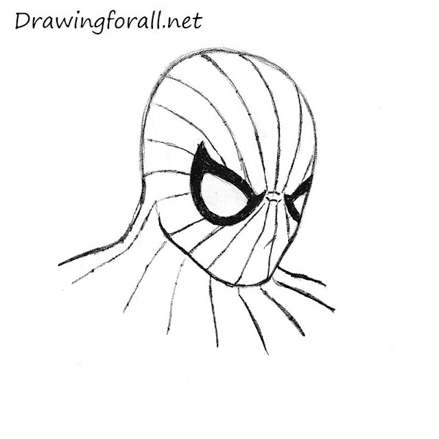 spiderman spider logo outline for pumpkin carving