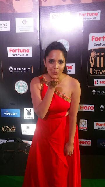 Anasuya Stunning at IIFA Utsavam Awards 2017 Day 2  Photos