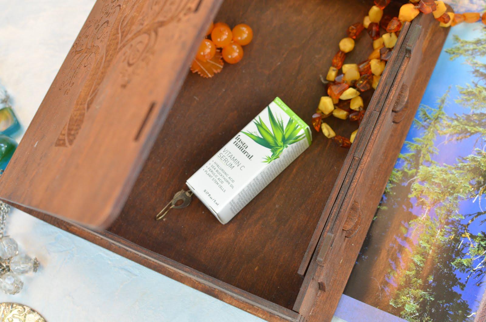InstaNatural Vitamin C Anti-Aging Serum with Hyaluronic Acid + Ferulic Acid\ Антивозрастная сыворотка с витамином С, гиалуроновой и феруловой кислотой