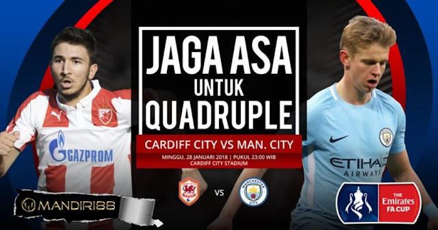Prediksi Cardiff City Vs Manchester City , Minggu 28 January 2018 Pukul 23.00 WIB
