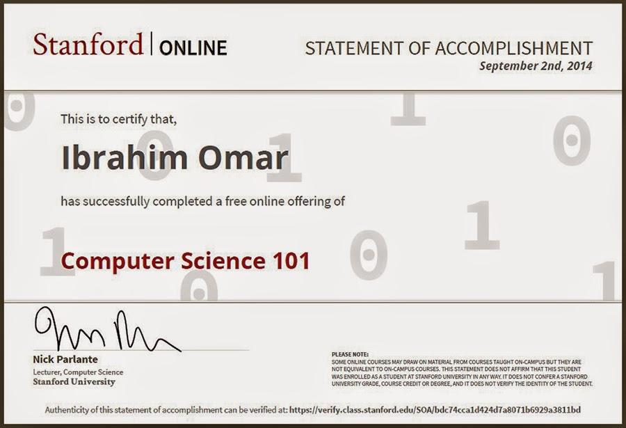 CS101 Stanford, CS101 Stanford  Lagunita, Computer Science 101, Nick Parlante stanford, Ibrahim Omar CS