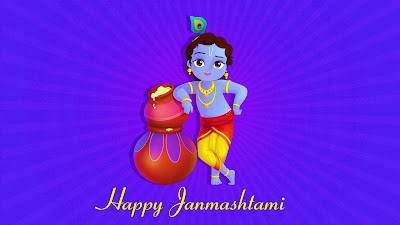 Happy Janmashtami HD Wallpaper 2017
