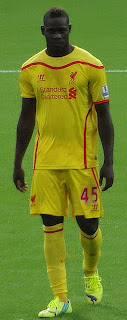 Balotelli in his time at Liverpool