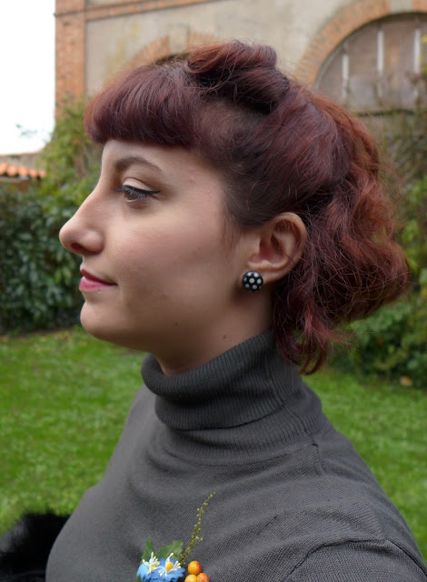 coiffure et maquillage rétro