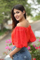 Rhea Chakraborty in Red Crop Top and Denim Shorts Spicy Pics ~  Exclusive 179.JPG