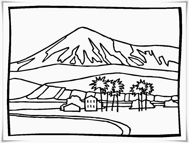Catatanku Anak Desa Gambar Pegunungan Untuk Mewarnai