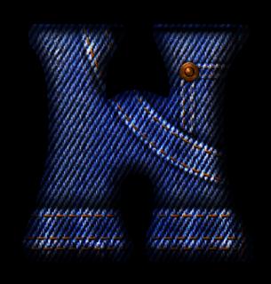 Abecedario hecho con Jeans. Jeans Style Alphabet.