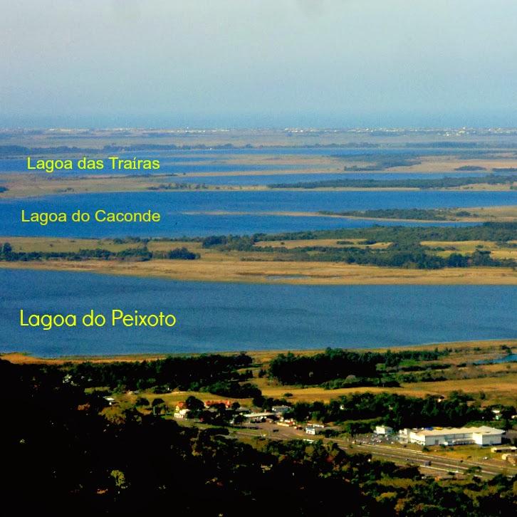 Lagoas Vistas do Mirante do Morro da Borússia, Osório