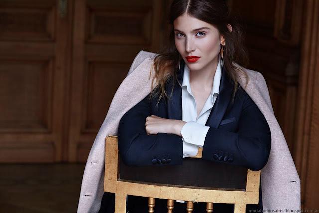 Moda invierno 2016 looks Awada, estilo casual elegante. Moda 2016 vestidos, sacos, blusas y abrigos.