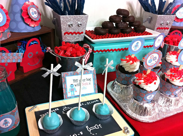 party ideas for boys, fun robot party ideas, awesome robot party ideas