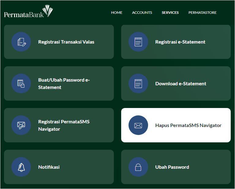 Hapus SMS Navigator Bank Permata