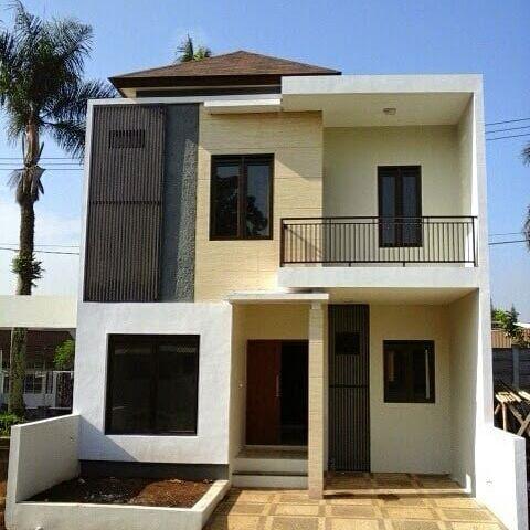 model rumah tingkat 2 minimalis mungil type 36 | desain