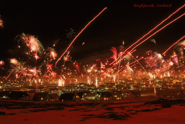 Reykjavik on New Year's Eve