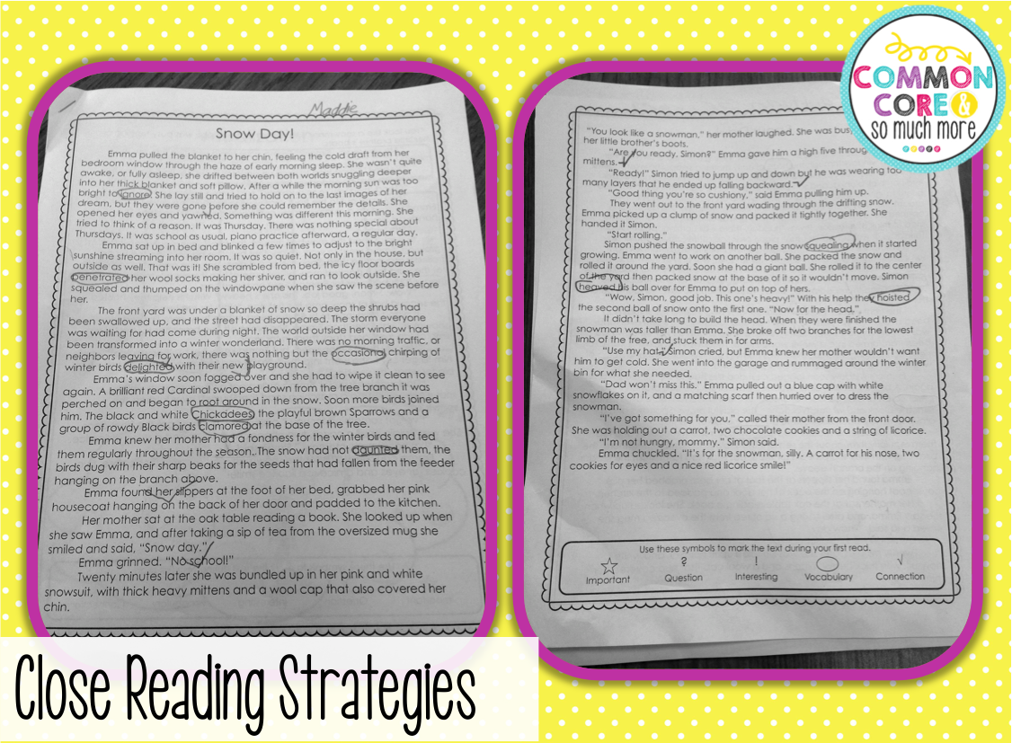 Learning Lab Resources Close Reading Strategies