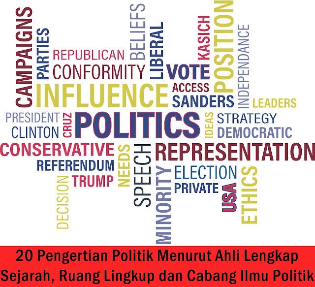 20 Pengertian Politik Menurut Ahli Lengkap Sejarah, Ruang Lingkup dan Cabang Ilmu Politik