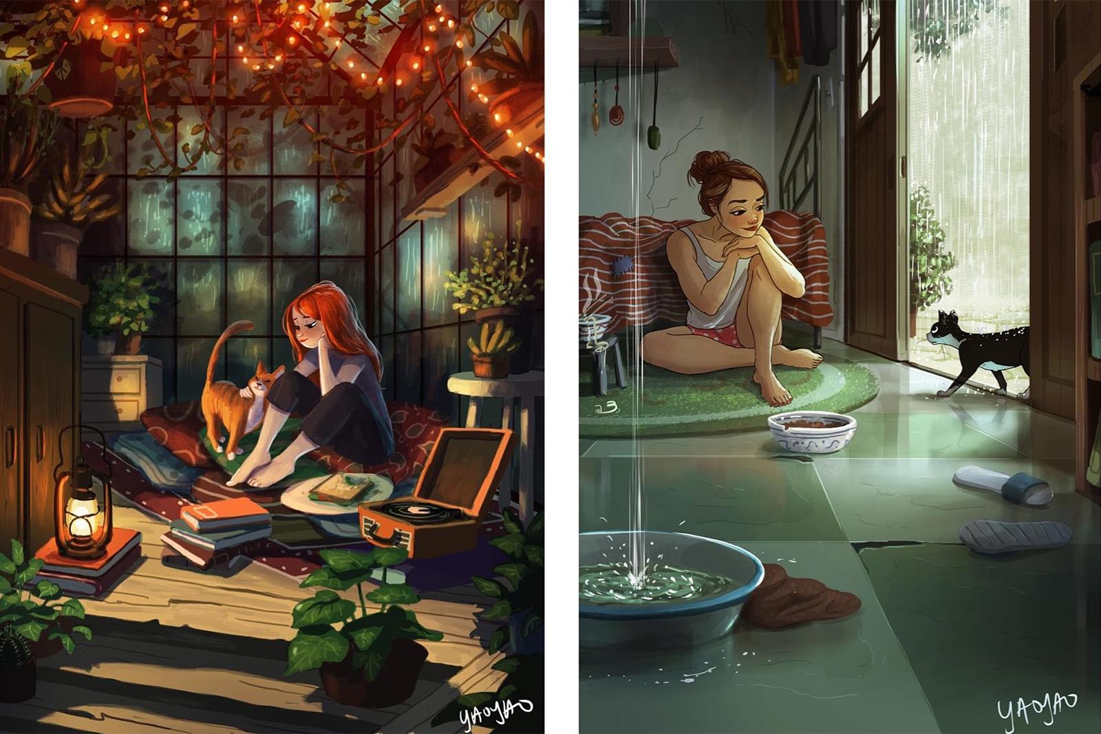 ilustrações yaoyao ma