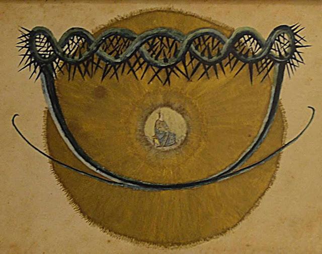 O sol místico da Beata Taigi, num quadro de época