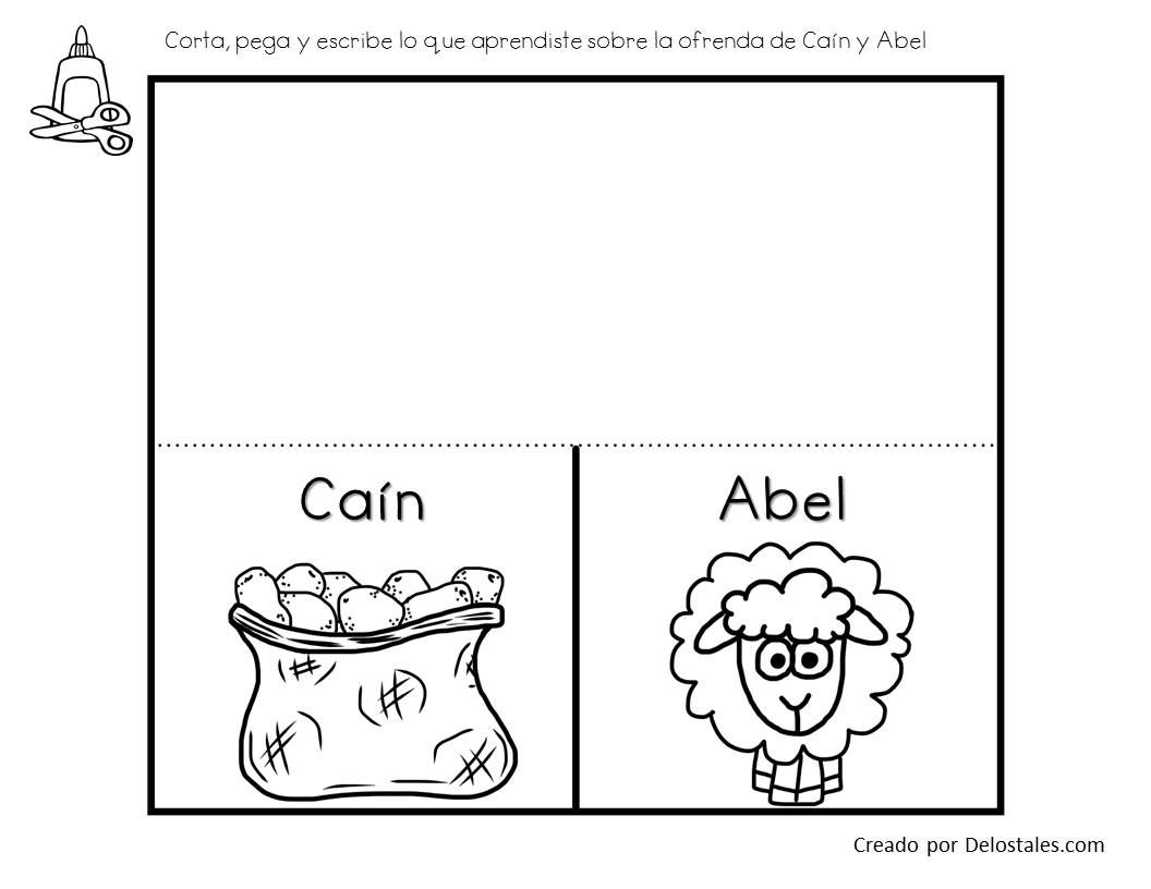 Moderno Biblia Colorear Páginas Cain Y Abel Componente - Dibujos ...