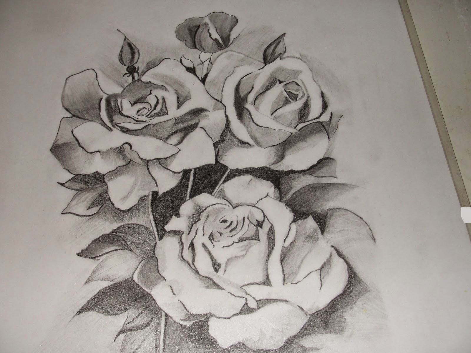 It's just a picture of Clean Beautiful Rose Drawing