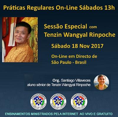 Rinpoche Tenzin Wangyal em Directo de São Paulo - 18 Nov 2017