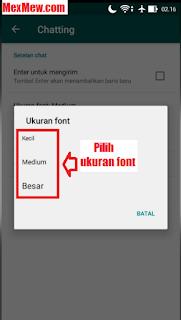font whatsapp,ukuran font whatsapp,rubah font wa,cara merubah font wa,