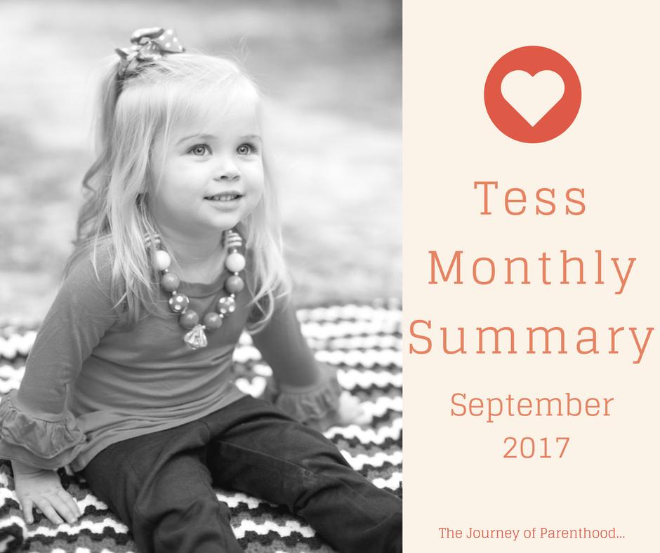 Tess Monthly Summary: September